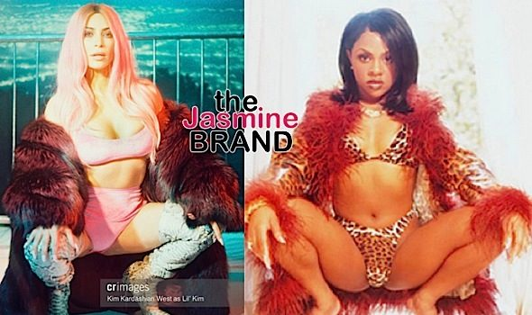 Kim Kardashian Channels Lil Kim & Pamela Anderson [Photos]
