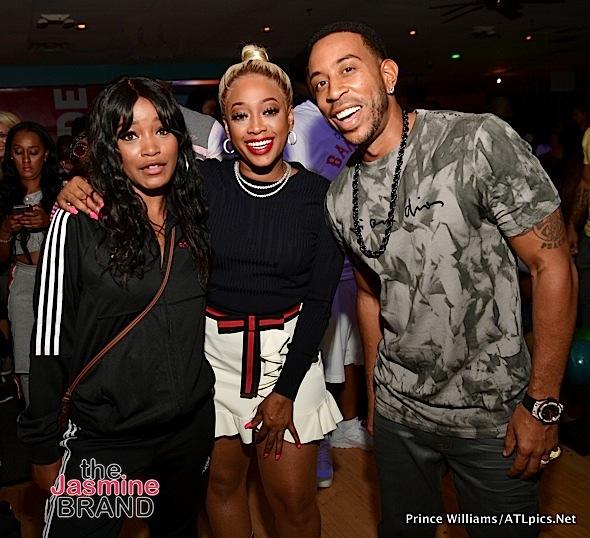 NeNe Leakes, Taye Diggs, Angela Simmons, Mack Wilds, Keke Palmer, Trina Spotted At Ludacris Bowling Bash