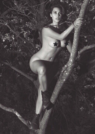 Kim Kardashian Poses Nude In A Tree [Stop & Stare]