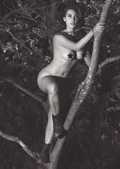 Kim Kardashian Poses Nude In A Tree [Stop & Stare]