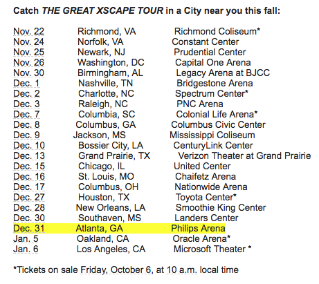 Xscape Announces Tour w/ Tamar Braxton & Monica