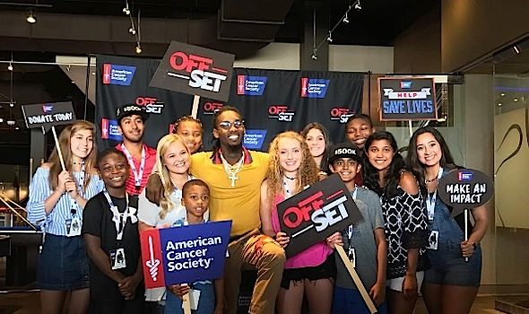 Rapper Offset Helps Raise Money For American Cancer Society