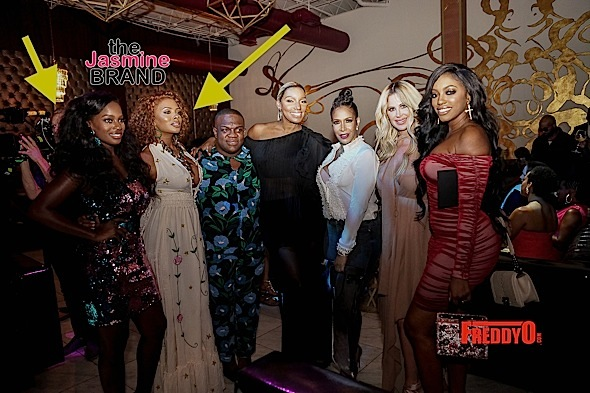 Eva Marcille Films w/ Real Housewives of Atlanta Cast + Kenya Moore, Cynthia Bailey, NeNe Leakes & More Celebrate Kandi Burruss' Cover