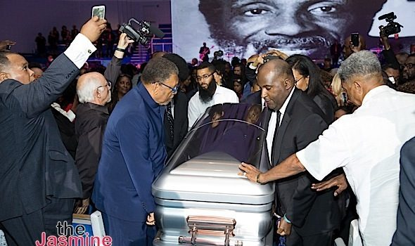 Dick Gregory Laid To Rest: Bill Cosby, Stevie Wonder, India Arie, Nick Cannon, Killer Mike, Maxine Waters, Louis Farrakhan, Donnie Simpson Attend