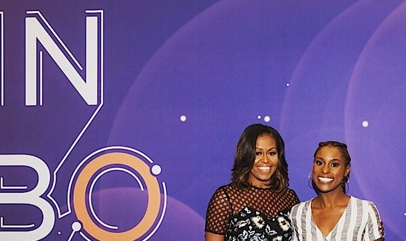 "Michelle Obama Admits She Was Mad at ""Insecure"" Finale + Hugs It Out w/ Issa Rae"