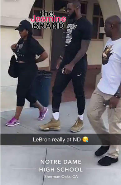 LeBron James & Wife Visit Private Schools In LA