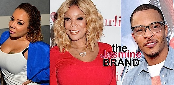 Tiny Denies T.I. Wears Lifts, Warns Wendy Williams: Keep me out the drama.