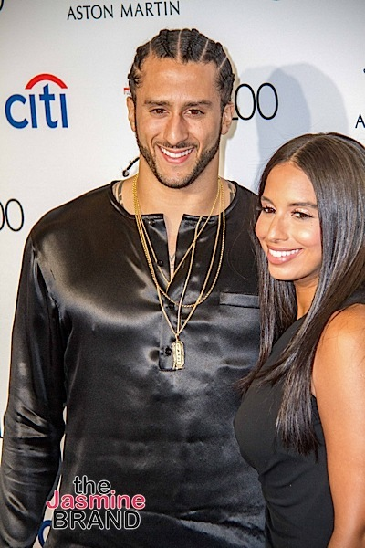 Colin Kaepernick's Girlfriend Shuts Down Anthem Rumors: He's not standing up!