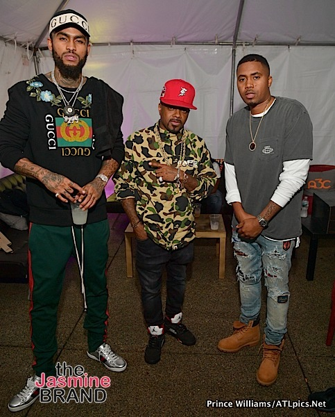 Lil Cease, Dave East, Jermaine Dupri, Nas Party in ATL [Spotted. Stalked. Scene.]