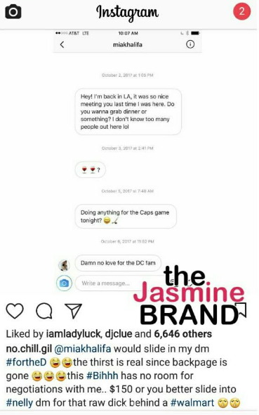 Gilbert Arenas Exposes Ex Porn Star Mia Khalifa: You Better Slide Into Nelly's DM For Raw D*ck!