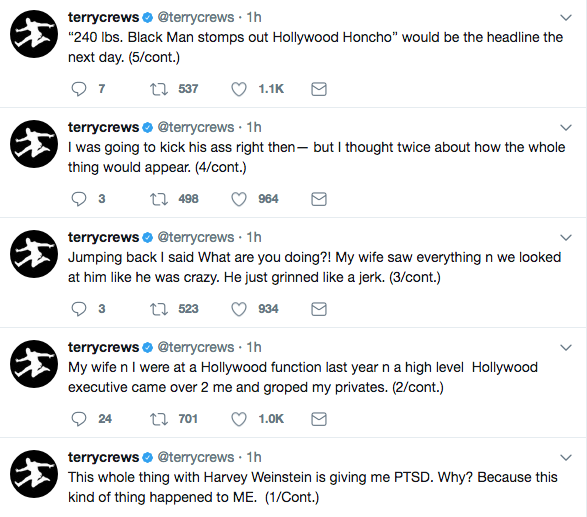 Terry Crews: A Hollywood Exec Groped & Grabbed My Private Parts