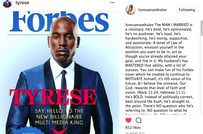 Tyrese's Wife Defends Husband: You are a REAL King!