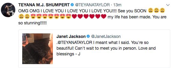 Janet Jackson Surprises Teyana Taylor w/ FaceTime Call