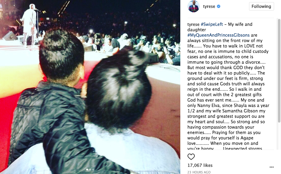 Tyrese Embraces Wife Before Court Battle w/ Ex Wife Of Accusations of Beating Daughter