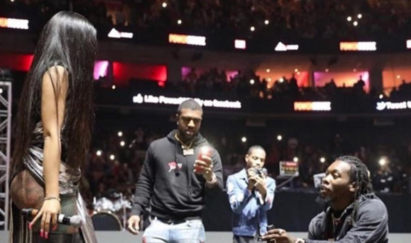 Cardi B & Offset Engaged, See The Sweet Proposal! [VIDEO]