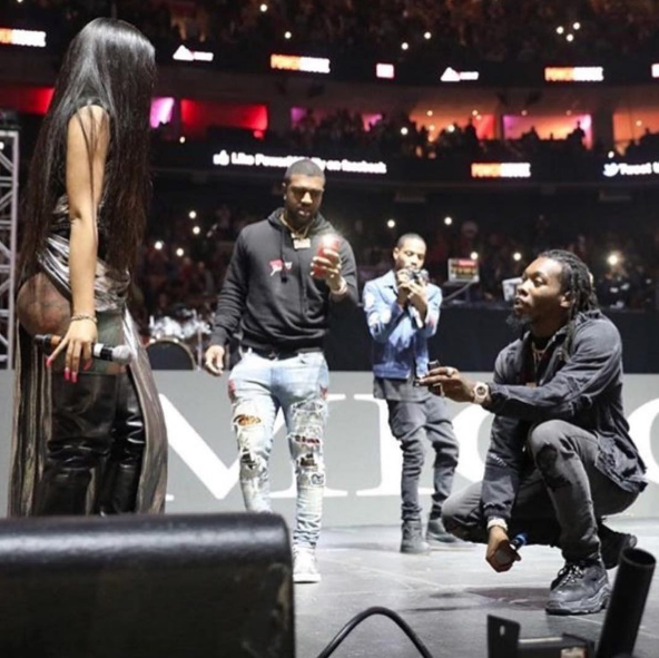 Cardi B & Offset Engaged, See The Sweet Proposal!