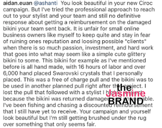 Designer Blasts Ashanti - You returned my bikini filthy, now pay for it!