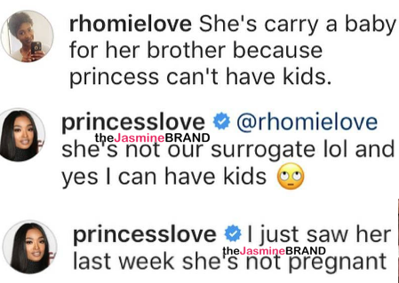 Ray J's Wife Princess Love Shuts Down Brandy Surrogate Rumors: She's not pregnant w/ our baby! [Ovary Hustlin']
