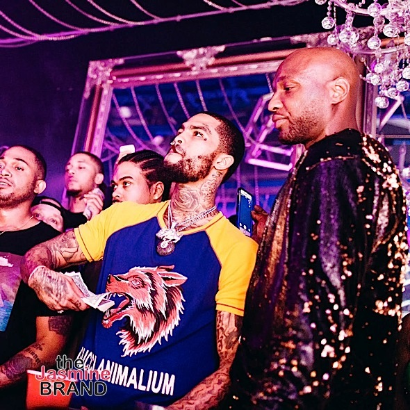 Lil Uzi Vert, Teairra Mari, Lola Monroe, Dave East & Lamar Odom Party At Hollywood Strip Club