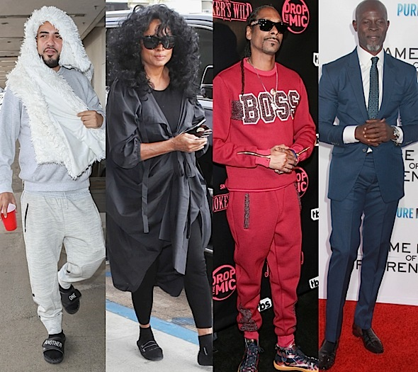 Karrueche, Snoop & Wife Hit TBS Premiere, Diana Ross & French Montana At LAX + Djimon Hounsou Spotted At LA Premiere
