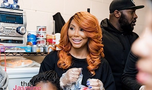Tamar Braxton Serves & Delivers Thanksgiving Meals [Spotted. Stalked. Scene.]