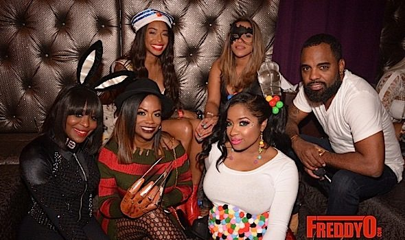 Karlie Redd, Monica, Tiny Harris, Kandi Burruss, Malaysia Pargo, Toya Wright At ATL Halloween Bash