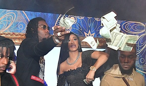 Cardi B & Fiance Offset Throw Cash At Club + Dave East, Wale, Jermaine Dupri, Evan Ross Spotted