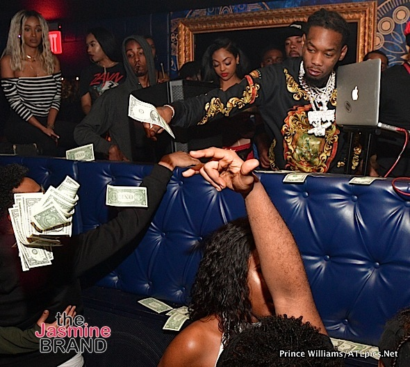 Cardi B's Fiance Offset Throws Money in ATL Crowd + Yo Gotti, T.I., YFN Lucci Spotted