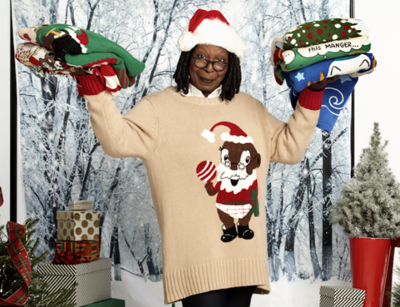 Whoopi Goldberg Launches Ugly Holiday Sweater Collection
