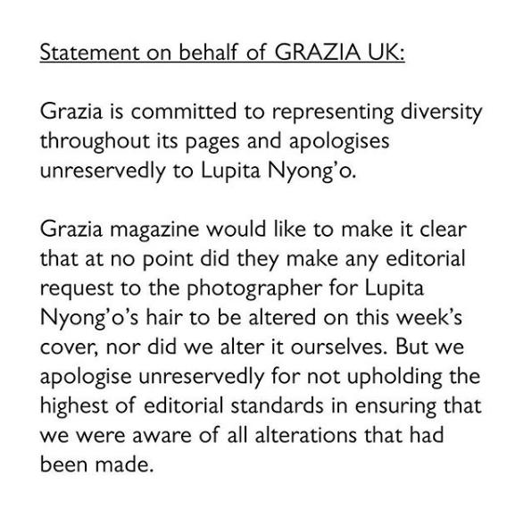 Lupita Nyong'o Trashes Mag: You Edited My Kinky Hair To Look Straight!