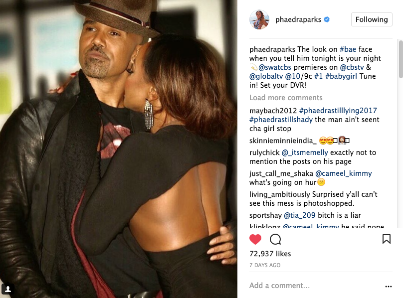 Shemar Moore Says He's Not Dating Phaedra Parks