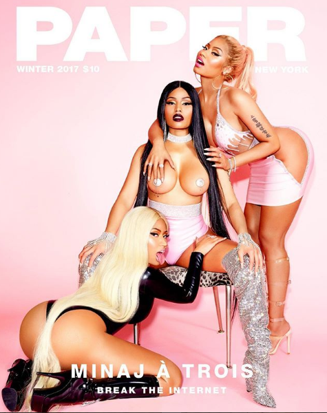 Nicki Minaj Wears Pasties, Has Minaj A Trois w/ Herself + Ex Safaree Reacts