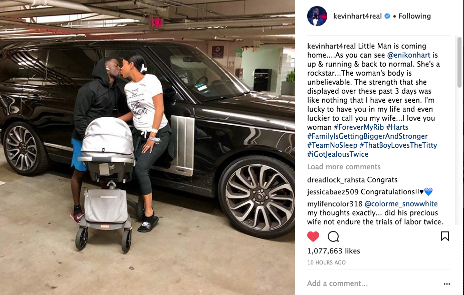 Kevin Hart & Wife Bring Home Newborn Son