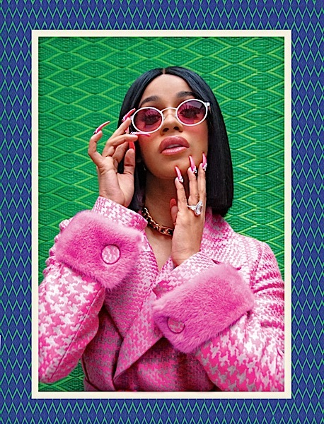 Cardi B Rocks Bally, Dolce & Gabbana & Elie Saab In New Shoot