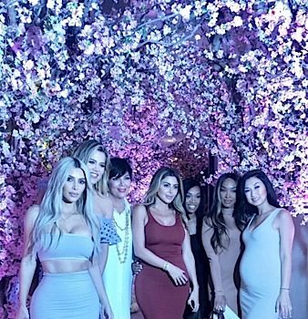 "Kim Kardashian Throws ""Tea for 3"" Baby Shower: Kris Jenner, Khloe Kardashian, Chrissy Teigen Attend"
