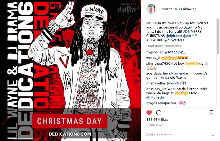 Lil Wayne Releasing New Music On Christmas!