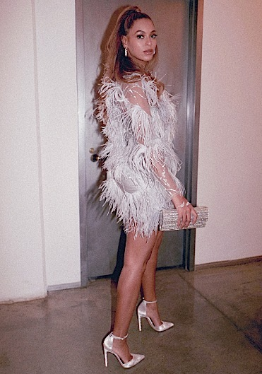 Beyonce Attends TIDAL After Party In Nina Ricci & Stuart Weitzman