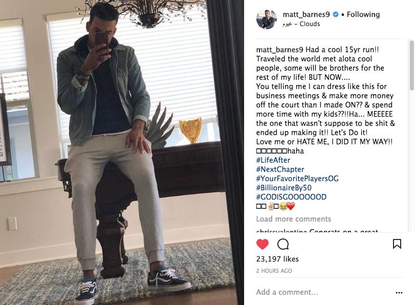 Matt Barnes: I'm Officially Retiring From The NBA!