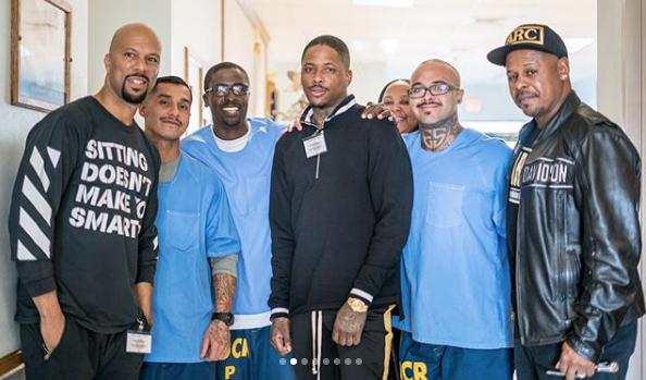 Common & YG Visit LA Prison