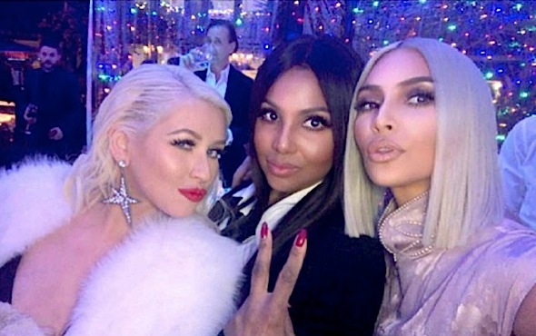 Kris Jenner's Christmas Eve Bash: Kylie Jenner Skips Party + Toni Braxton, Christina Aguilera, Scott Disick, Ryan Seacrest Attend
