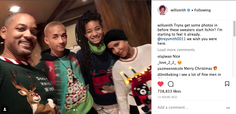 Will Smith Christmas Sweater.Will Smith My Wife Jada Makes Me Wear Ugly A Sweaters
