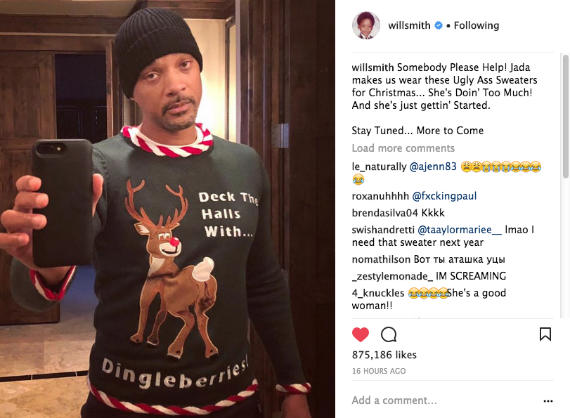 Will Smith My Wife Jada Makes Me Wear Ugly A Sweaters Shes