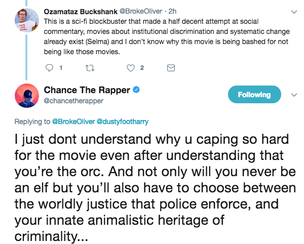 "Chance The Rapper Slams Will Smith's ""BRIGHT"""