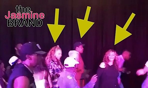 Jay-Z, Beyonce & Tina Lawson Do The Electric Slide [Celebrity Stalking]