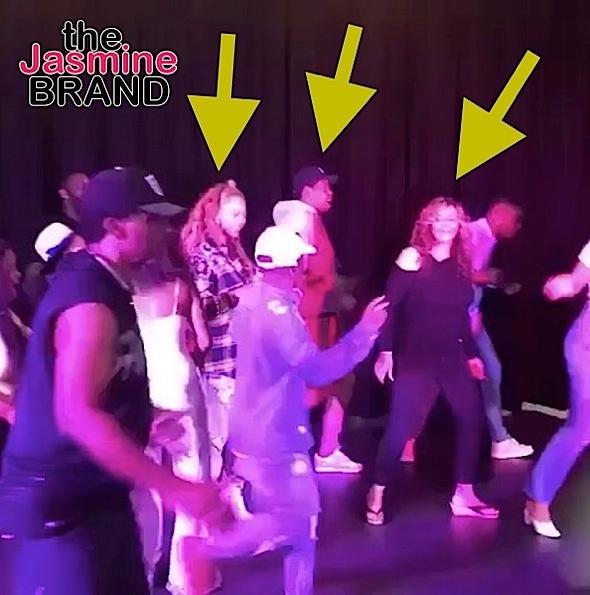 Jay-Z, Beyonce & Tina Lawson Do The Electric Slide [Celebrity Stalking]