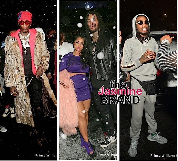 Celebs Hit ATL Club During Winter Storm: Migos, 21 Savage, Young Thug, Lil Uzi Vert, Waka Flocka Spotted
