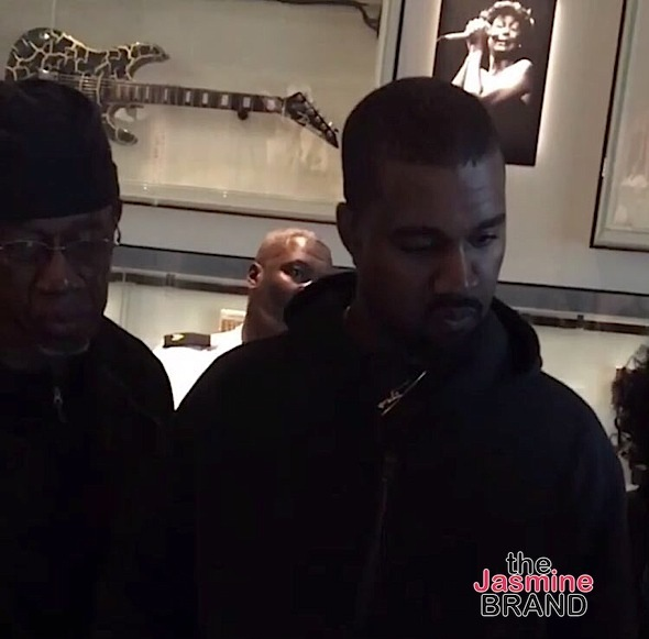 Lala & Queen Latifah Film 'Star' + Kanye West, Saint & His Father Visit African American Museum [Photos]
