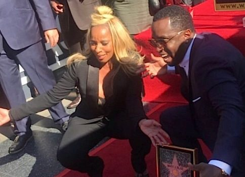 Mary J. Blige Receives Star On Hollywood Walk of Fame: Diddy, Andre Harrell Attend [Photos]