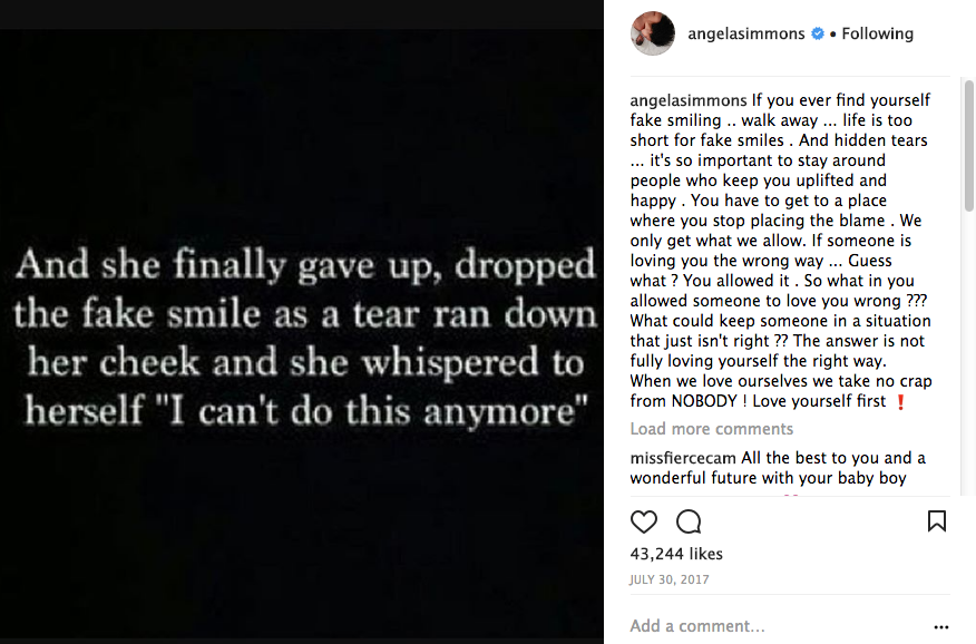 Angela Simmons Confirms Calling Off Engagement, Shares Message For Single Mothers