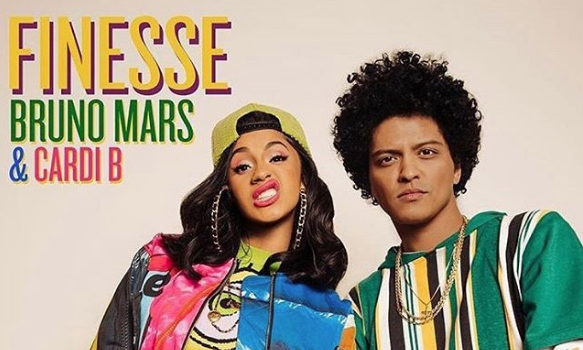 "Bruno Mars Teases ""Finesse"" w/ Cardi B + Rapper Clarifies Top 3 Records: Y'all can't read!"